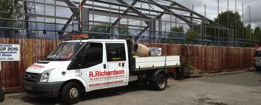 Construction of Shop Units in Wellingborough