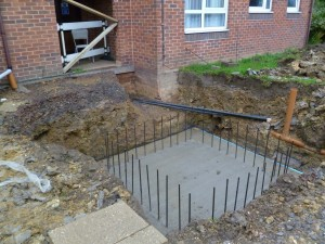 Concrete base for Lift Shaft Northants