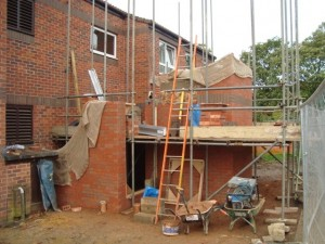 External walls to lift shaft
