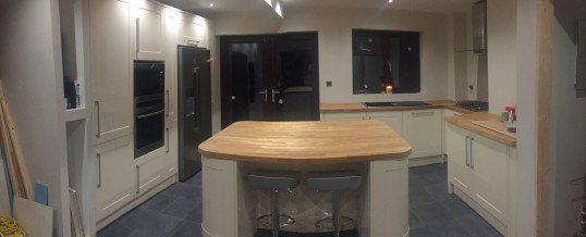 Open Plan Kitchen Extension in Finedon